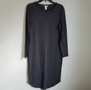 H&M Basic Midi Bodycon Dark Gray Dress